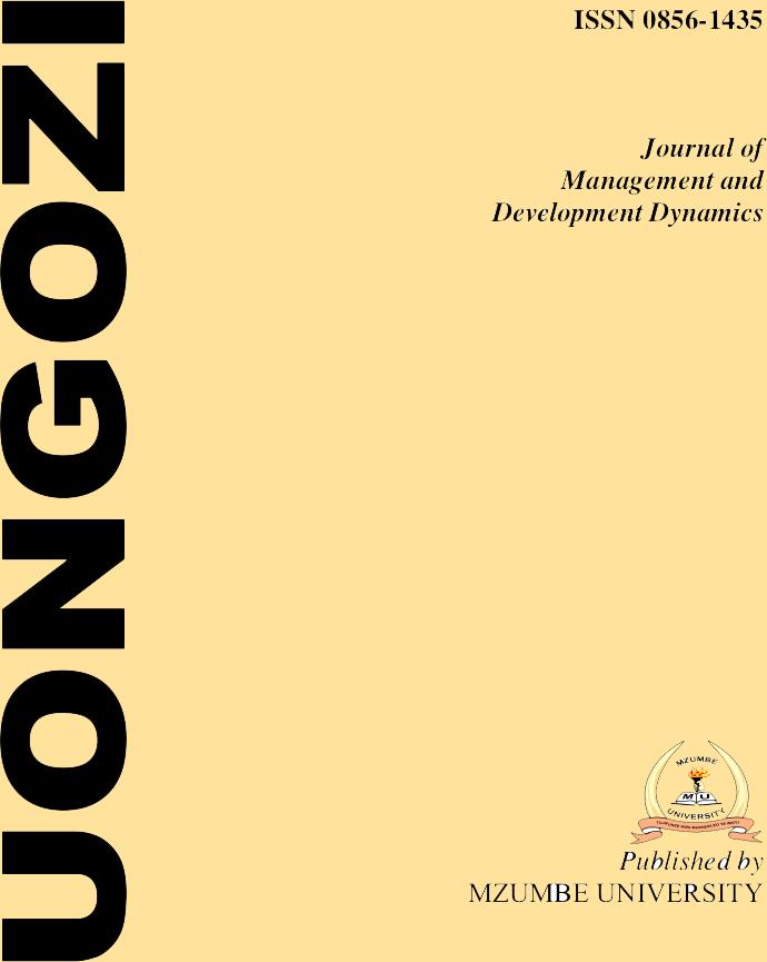 The Uongozi Journal of Management and Development Dynamics